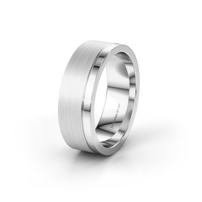 Wedding ring WH0325M17APM 585 white gold ±0.28x0.07 in