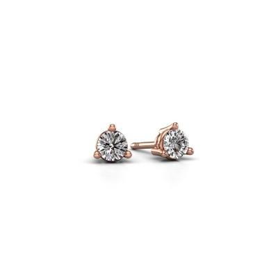 Foto van Oorstekers Somer 375 rosé goud diamant 0.25 crt