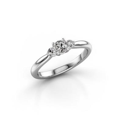 Foto van Verlovingsring Lieselot RND 925 zilver diamant 0.41 crt