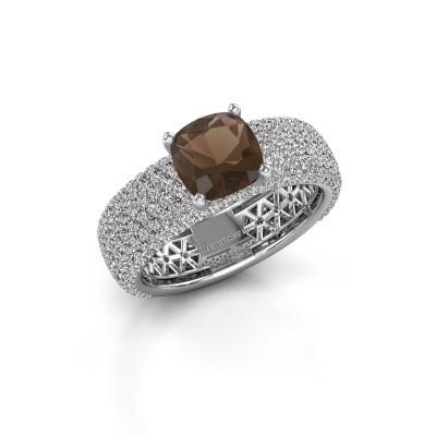 Engagement ring Darcy 950 platinum smokey quartz 7 mm