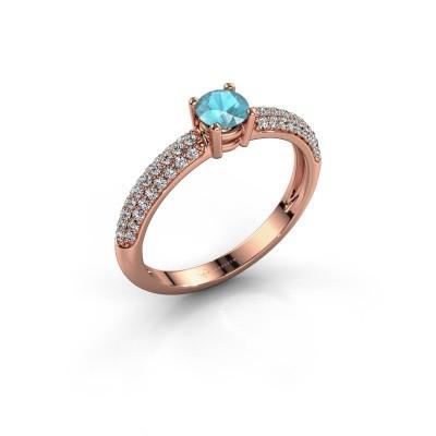 Picture of Ring Marjan 375 rose gold blue topaz 4.2 mm