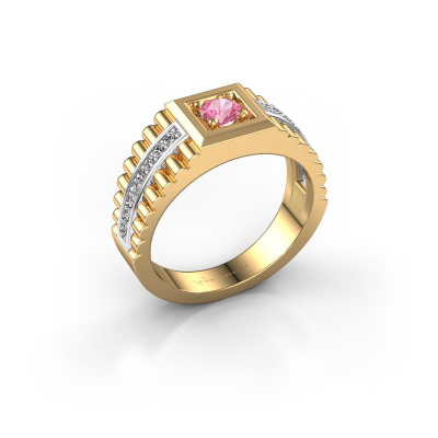 Picture of Men's ring Maikel 585 gold pink sapphire 4.2 mm