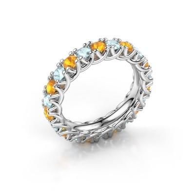 Foto van Ring Fenna 585 witgoud citrien 3 mm
