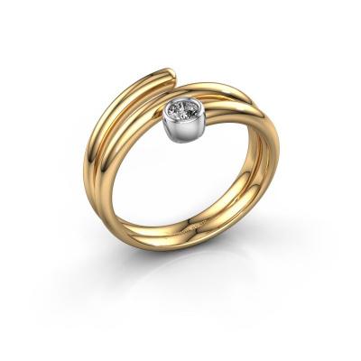 Ring Jenna 585 goud lab-grown diamant 0.10 crt