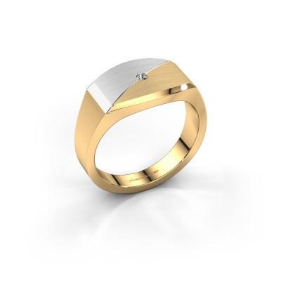 Foto van Heren ring Joe 5 585 goud diamant 0.03 crt