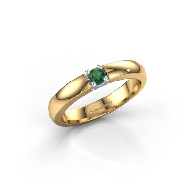 Engagement ring Rianne 1 585 gold emerald 3 mm