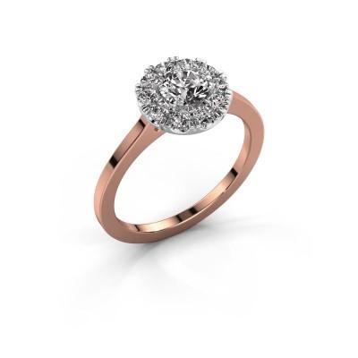 Foto van Verlovingsring Misti 1 585 rosé goud diamant 0.80 crt