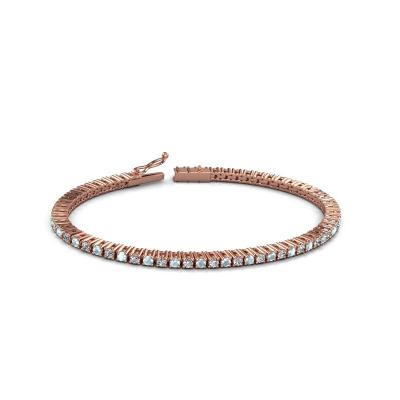 Picture of Tennis bracelet Karin 2.4 mm 375 rose gold aquamarine 2.4 mm