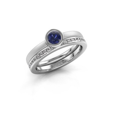 Picture of Ring Cara 585 white gold sapphire 4 mm