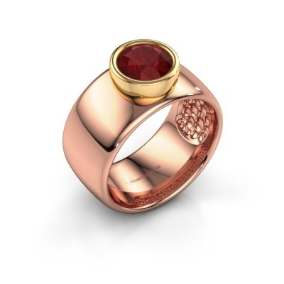 Bague Klarinda 585 or rose rubis 7 mm