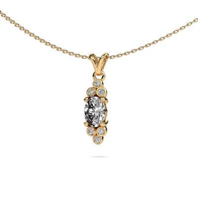 Foto van Hanger Lucy 2 375 goud diamant 0.89 crt