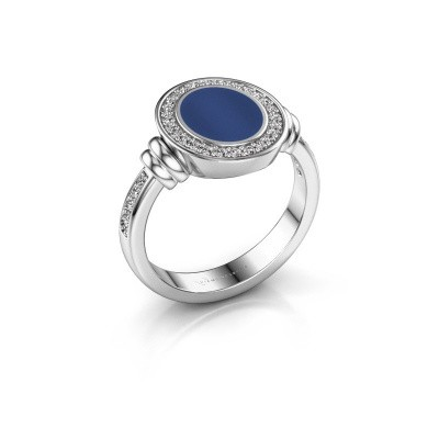 Signet ring Bailey 925 silver lapis 10x8 mm