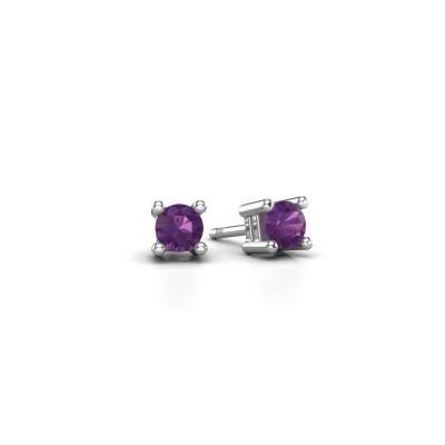 Picture of Stud earrings Eline 925 silver amethyst 4 mm