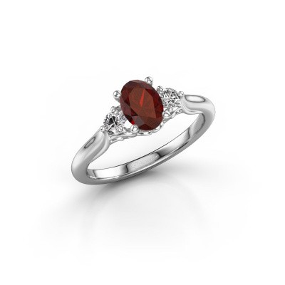 Picture of Engagement ring Laurian OVL 925 silver garnet 7x5 mm