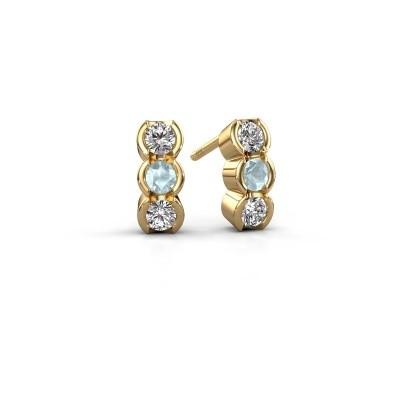Foto van Oorbellen Lotte 375 goud lab-grown diamant 0.40 crt