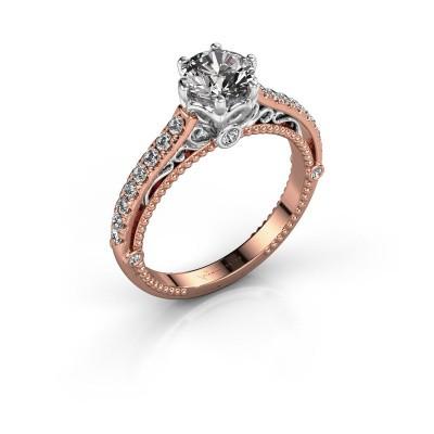 Verlovingsring Venita 585 rosé goud diamant 1.345 crt