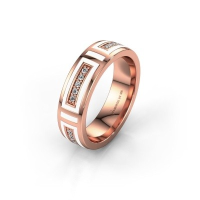Wedding ring WH2228L25A 375 rose gold ±0.20x0.07 in