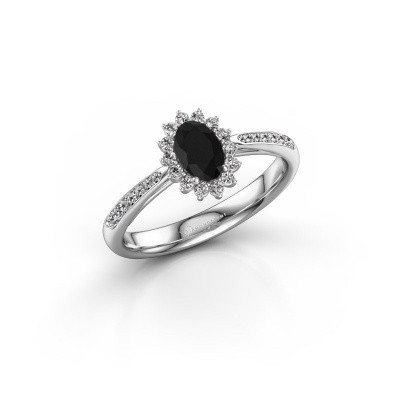 Picture of Engagement ring Tilly 2 585 white gold black diamond 0.60 crt