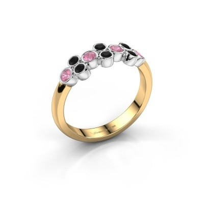 Ring Kayleigh 585 gold pink sapphire 2.4 mm