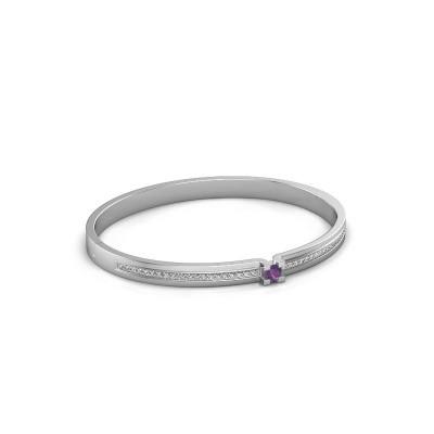 Bracelet Myrthe 585 white gold amethyst 4 mm