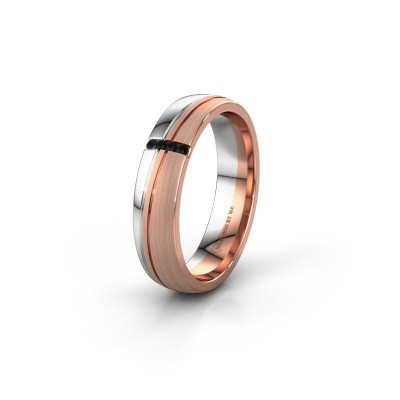Weddings ring WH0909L25X 585 rose gold black diamond ±0.20x0.06 in