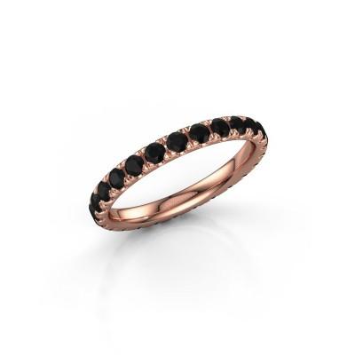 Foto van Ring Jackie 2.3 375 rosé goud zwarte diamant 1.50 crt