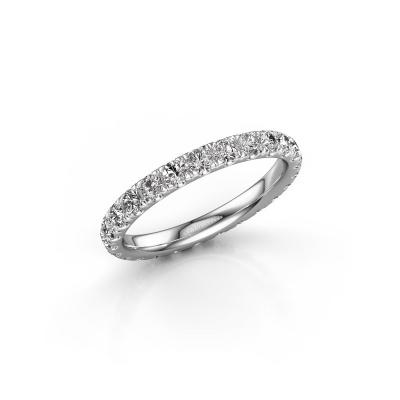 Photo de Bague Jackie 2.3 585 or blanc diamant synthétique 1.25 crt
