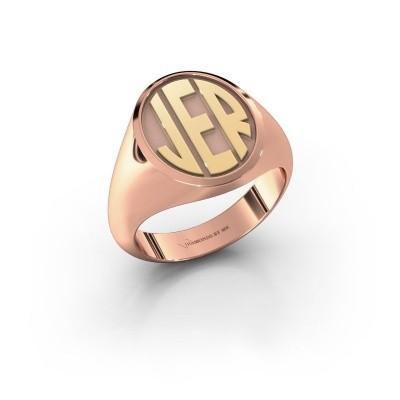 Foto van Monogram ring Paul 585 rosé goud