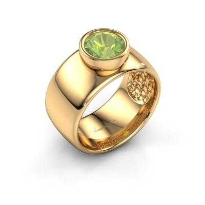 Ring Klarinda 585 goud peridoot 7 mm
