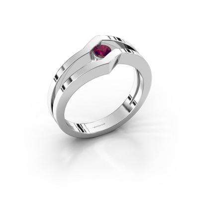 Ring Elize 925 silver rhodolite 3.4 mm