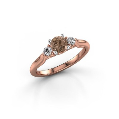 Picture of Engagement ring Laurian RND 585 rose gold brown diamond 0.70 crt