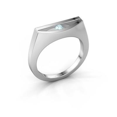Ring Milou 585 Weißgold Aquamarin 3 mm
