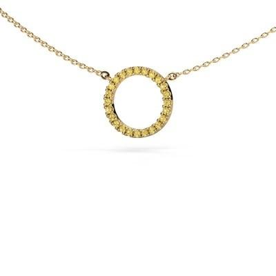 Foto van Hanger Circle 375 goud gele saffier 1.2 mm