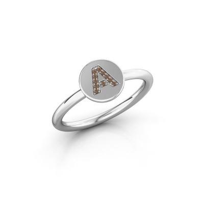 Bague Initial ring 050 950 platine