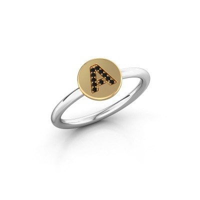 Bague Initial ring 050 585 or blanc
