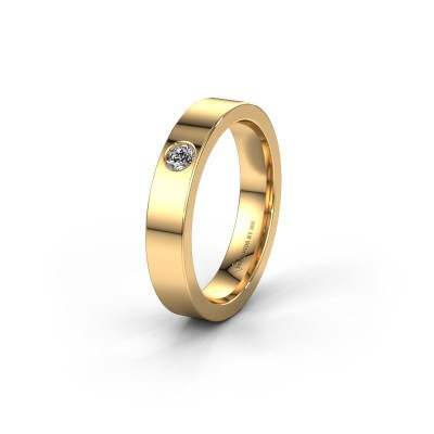 Huwelijksring WH0101L14BP 375 goud diamant ±4x2 mm