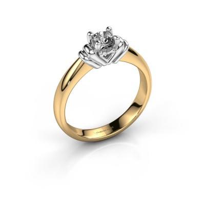 Verlovingsring Esmeralde 585 goud diamant 0.30 crt