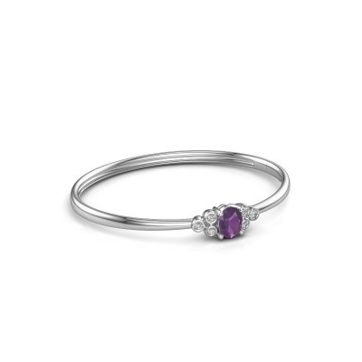 Bangle Lucy 585 white gold amethyst 8x6 mm