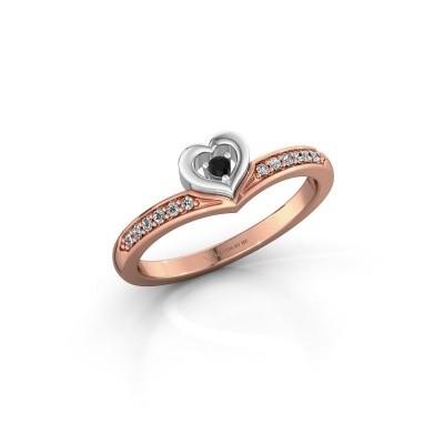 Ring Mimi 585 rose gold black diamond 0.124 crt