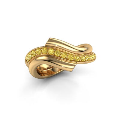 Ring Guusje 585 gold yellow sapphire 1.8 mm