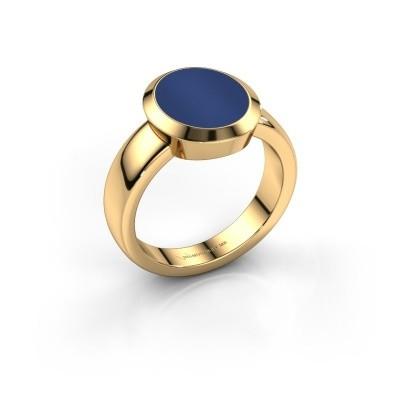 Zegelring Oscar 3 585 goud lapis lazuli 12x10 mm