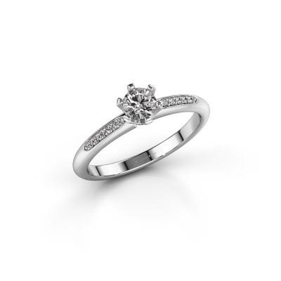 Bague de fiançailles Tiffy 2 950 platine diamant 0.30 crt