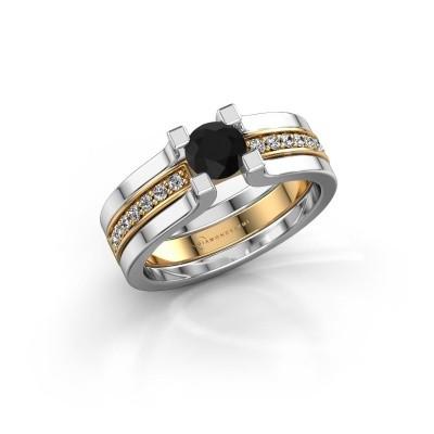 Foto van Verlovingsring Myrthe 585 goud zwarte diamant 0.768 crt