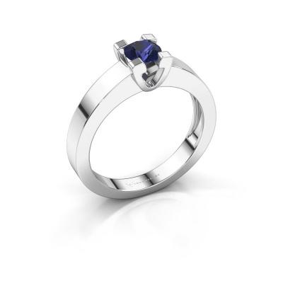 Promise ring Anne 1 950 platina saffier 4.7 mm