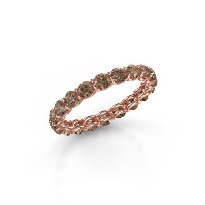 Foto van Ring Kirsten 2.9 375 rosé goud bruine diamant 1.90 crt