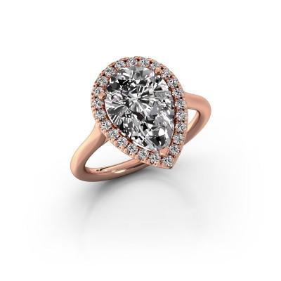 Verlovingsring Monique 1 375 rosé goud diamant 3.288 crt