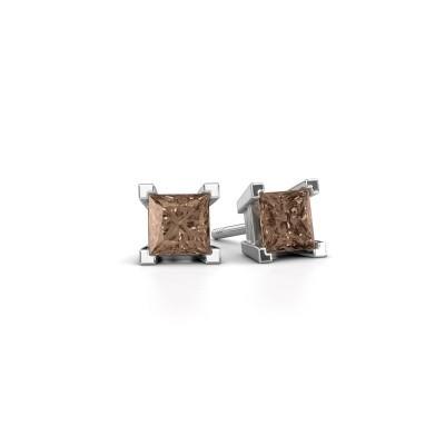 Foto van Oorknopjes Ariane 375 witgoud bruine diamant 1.56 crt