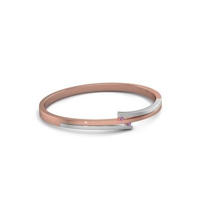Foto van Armband Roxane 585 rosé goud amethist 2 mm