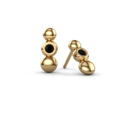 Bild von Ohrringe Lily 585 Gold Schwarz Diamant 0.144 crt