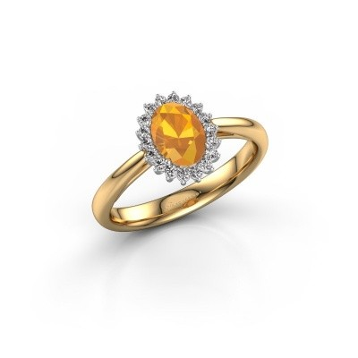 Engagement ring Tilly ovl 1 585 gold citrin 7x5 mm